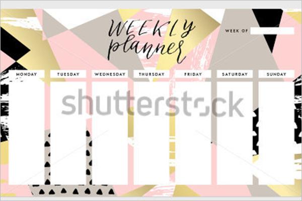 Modern Weekly Planner Template