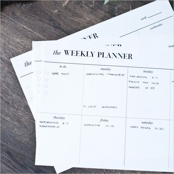 Monthly Planner Template