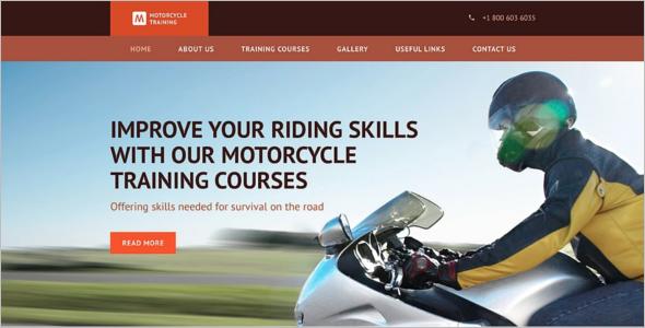 Motorcycle Training Website Template