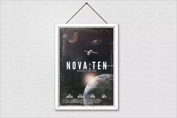 Movie Poster Template For Student