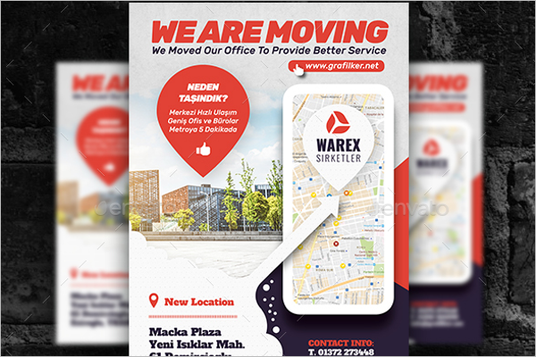 Moving Office Flyer Template