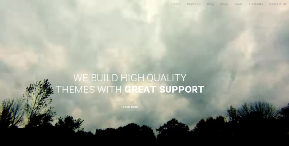 Multi Page Portfolio HTML Template