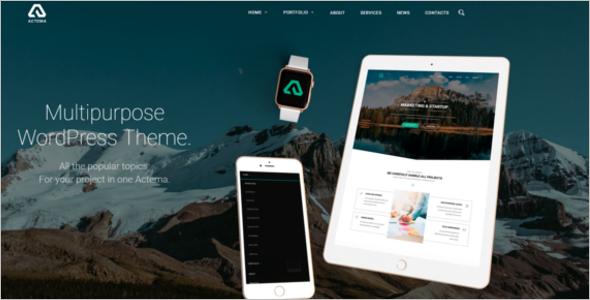 Multi Page WordPress Theme
