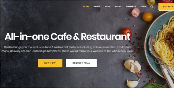MultipurposeRestaurant Website Template