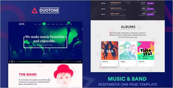 Music & Band Website Template