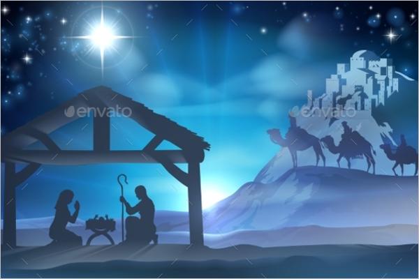 Nativity Christmas Scene Design