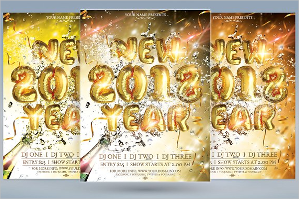 New Year 2018 Party Design