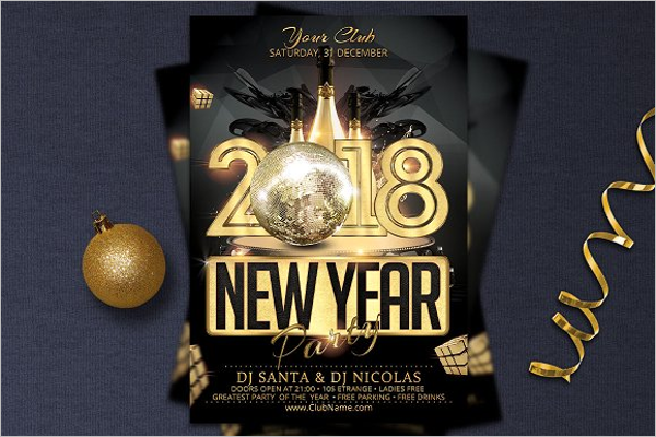 New Year Dance Party Poster
