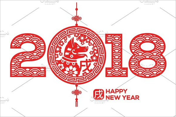 New Year Greeting Vector Design