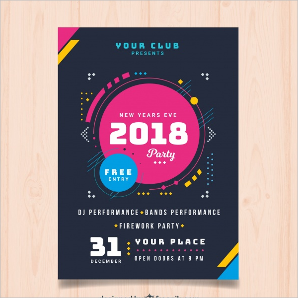 New Year Poster Design Template