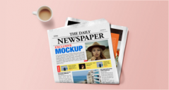 Newspaper Mockup PSD Templates