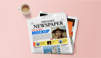 Newspaper Mockup PSD Templates