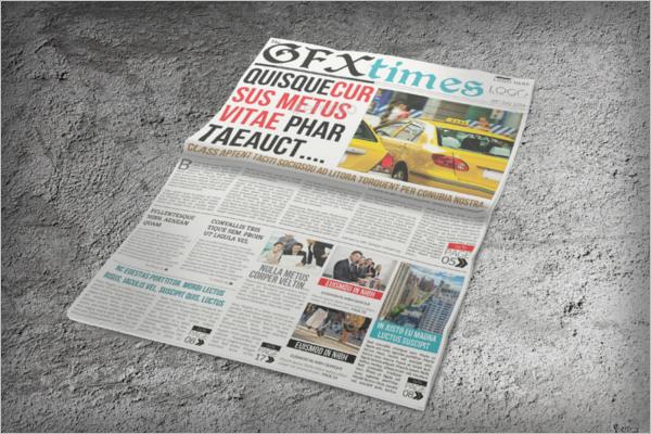 Newspaper Mockup Template Design