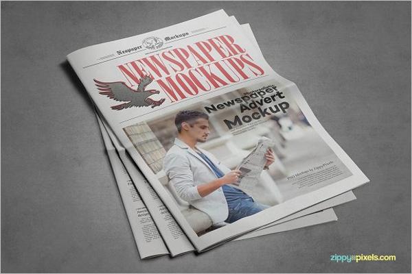 Newspaper Spread Mockup