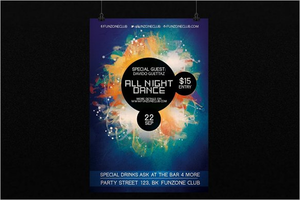 Night Dance Colorful Poster Template
