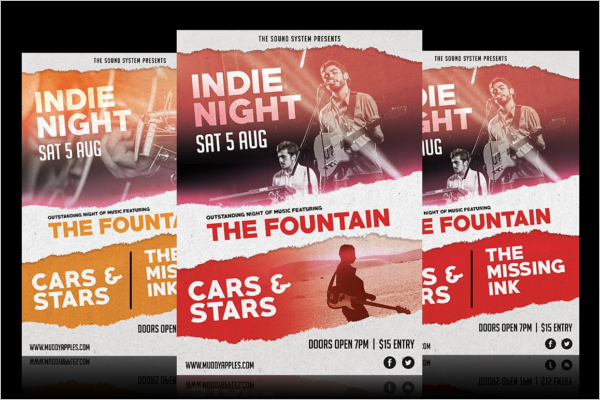 Night Music Poster Template