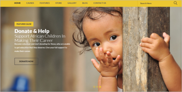 Non Profit Website Template