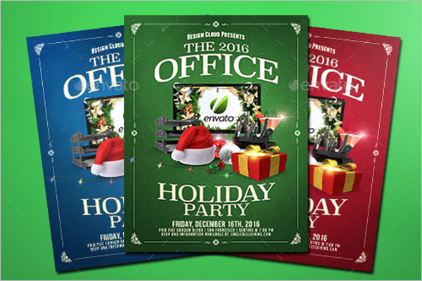Office Christmas Flyer Background