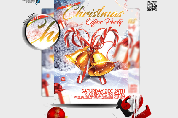 Office Christmas Flyer Template
