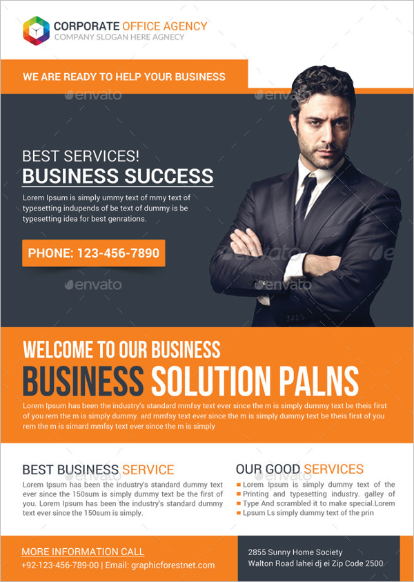 Office Flyer Template Example