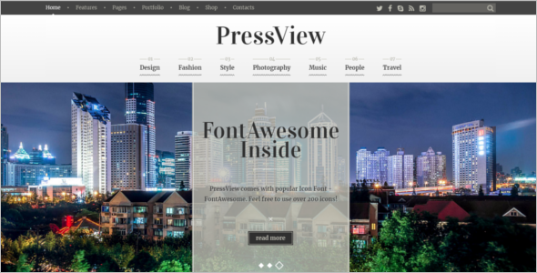 Old Fashioned WordPress Theme