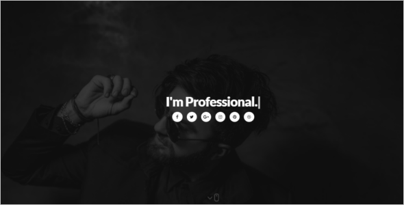 One Page Personal Website Theme