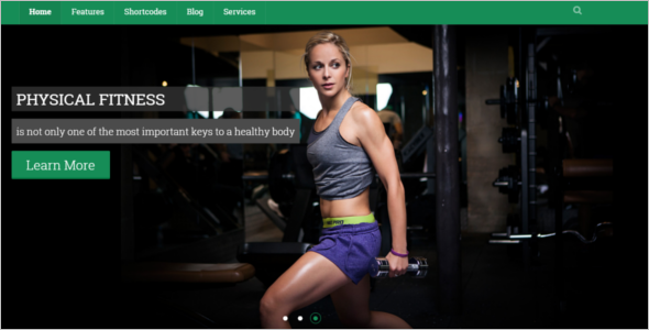 One Page Sports Website Template