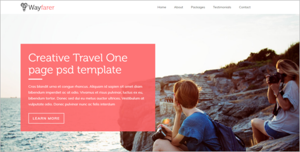 OnePage Travel HTML Website Template
