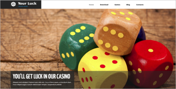 Online Casino Drupal Template