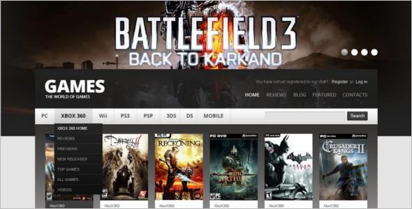 Online Gaming Drupal Template