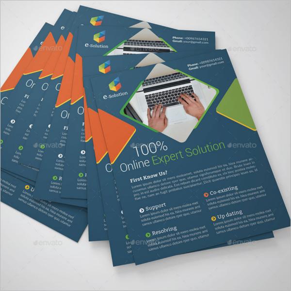 Online Marketing Business Flyer Template