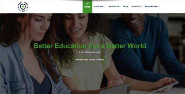 Online Training Website Template