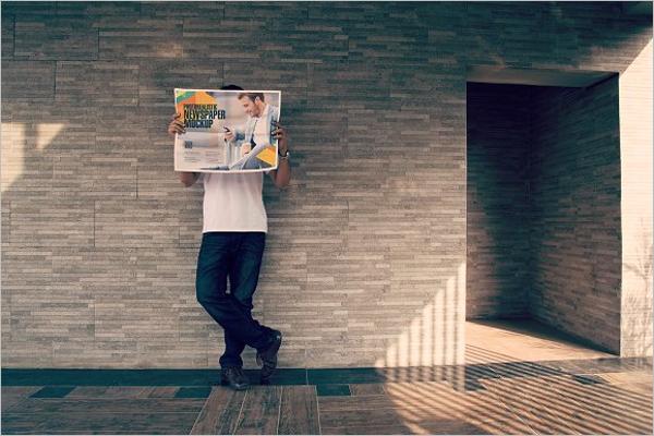 Outdoor Newspaper Mockup