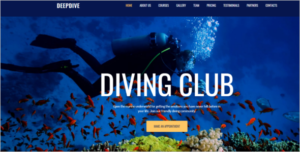 Outdoor Sports Website Template