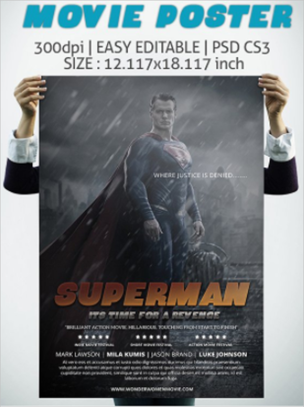 32 movie poster templates free word psd designs creative template own movie poster template pronofoot35fo Image collections