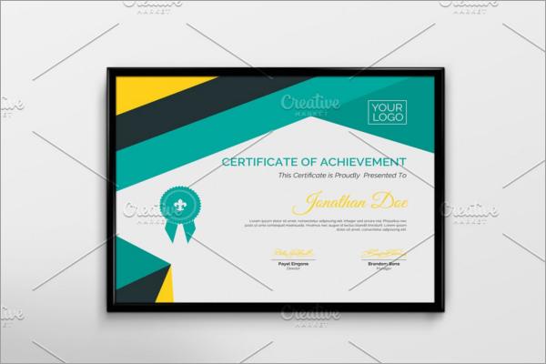 PDF School Certificate Template
