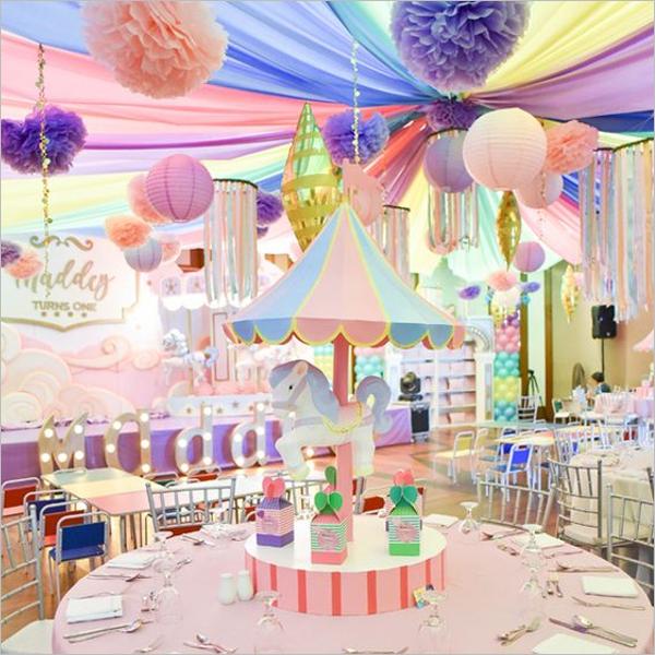 Paper Decoration Birthday party Idea