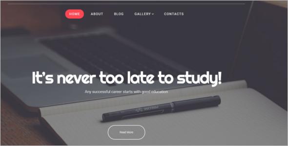 Parallax Education WordPress Theme