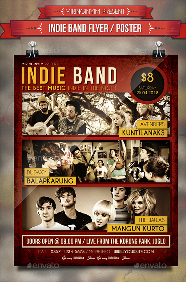 Party Band Poster Template