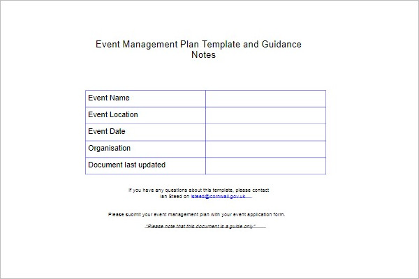 Party Management Template