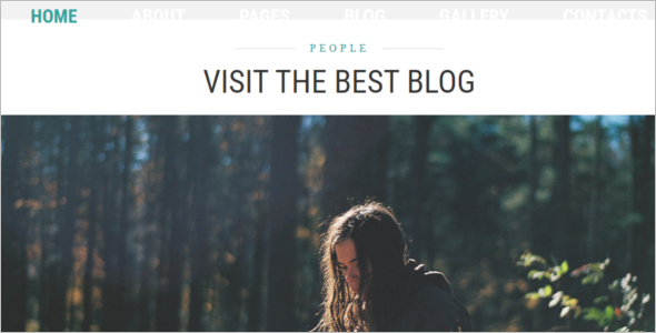 Personal Blog  Website Template