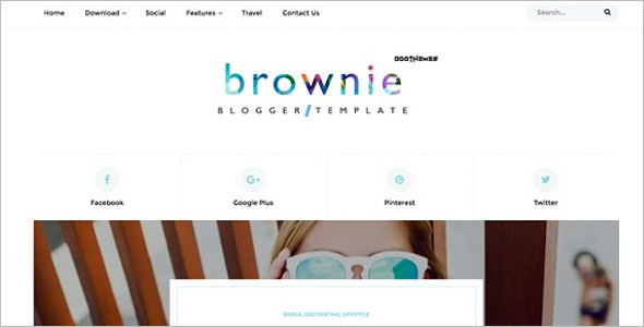 Personal Blogger Website Template