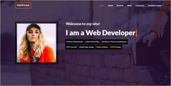 Personal Website Design Template