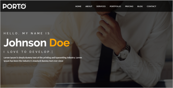 Personal Website Responsive Template