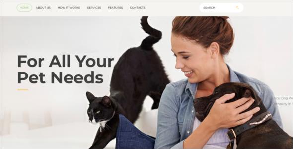 Pet Services Website Template