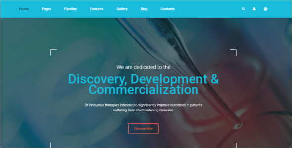 Pharmaceuticals Company Website Template