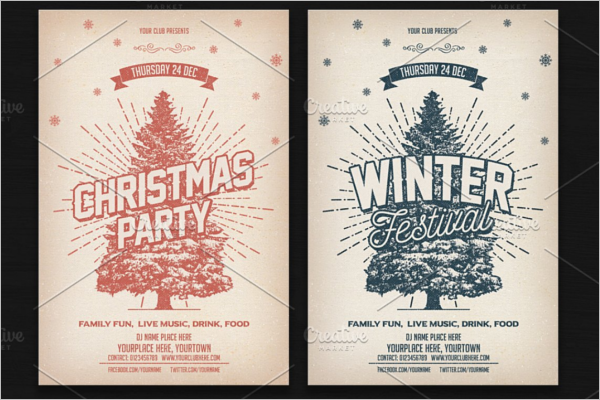 Photoshop Christmas Party Template