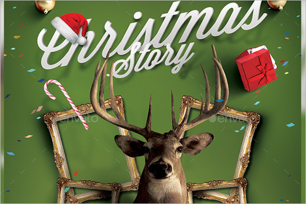 Photoshop Christmas Story Template