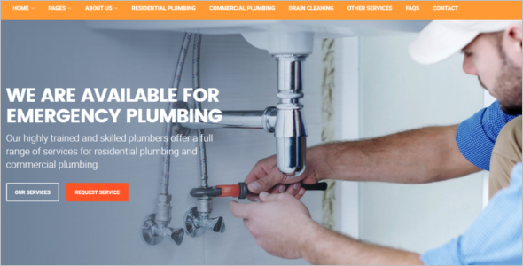 Plumbing Services Website Template