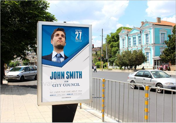 Political Election Poster Template